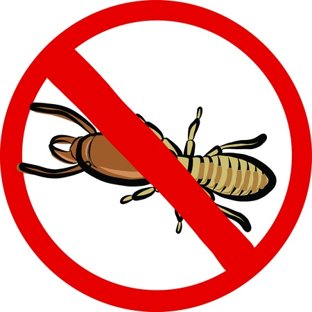 exterminate: termitas insectos emblema repelente Vectores