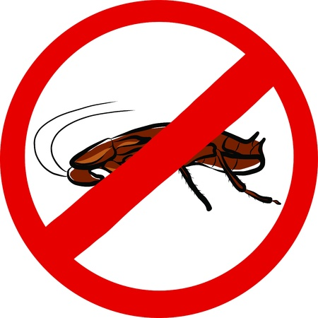 revolting: Stop Cockroach sign
