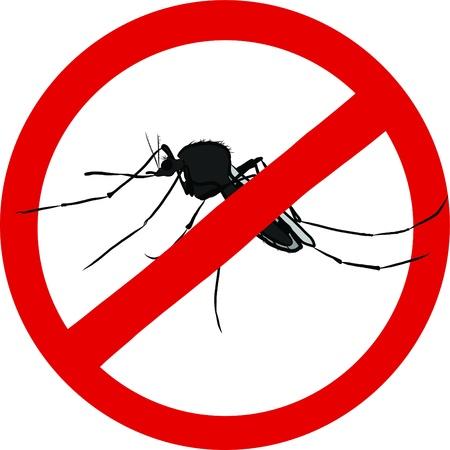 arrêter moustique signe insecte emblème répulsif Illustration