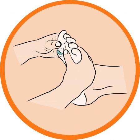 Hand draw Reflexology Stock Vector - 23078546