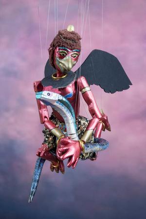 marioneta de madera: Garuda tailandés tradicional de marionetas de cuerda