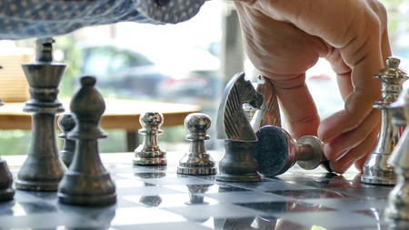 move in: Winning chess move in the checkmate