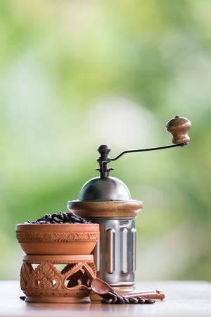 whine: old set of vintage coffee grinder Stock Photo