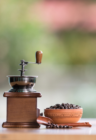 whine: old set of vintage coffee grinder Stock Photo