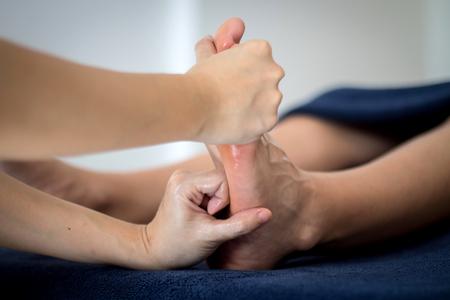 réflexologie des pieds massage thaï Banque d'images