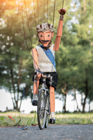 cyclist marionette
