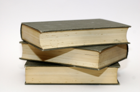 Pile Of Books On White photo
