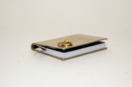 Wedding   Engagement Ring On Diary photo