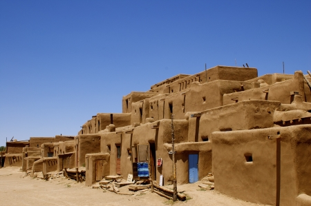 adobe pueblo: New Mexico Adobe Pueblo Building Editorial