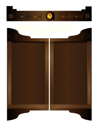 Old West Saloon Doors and Entryway Details Stock Vector - 9852970