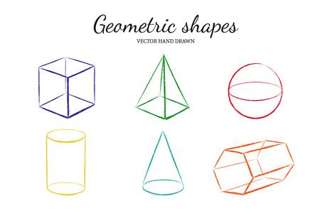 Geometric shapes set.
