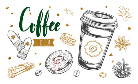 Koffie tot fo-concept Stockfoto - 89823002