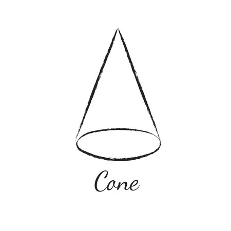 Cone geometric shape.