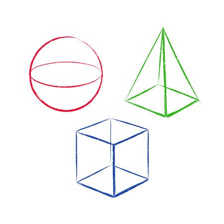 Geometrische vormen instellen Stock Illustratie