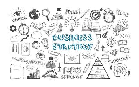 Pictogrammen Bedrijfsstrategie