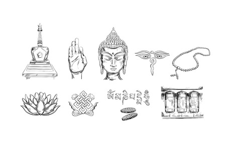 Buddhism icons collection