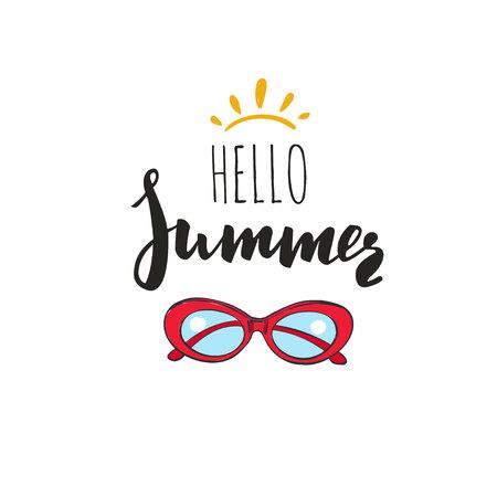 Hello Summer. Vector Inspirational Summer