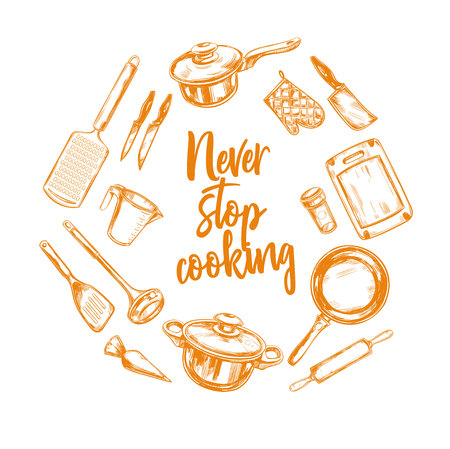 Never stop Cooking vector 3