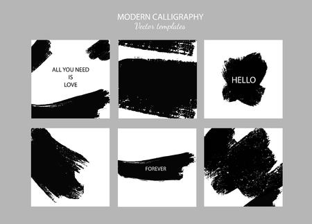 Post and Banners template with abstract brush strokes
