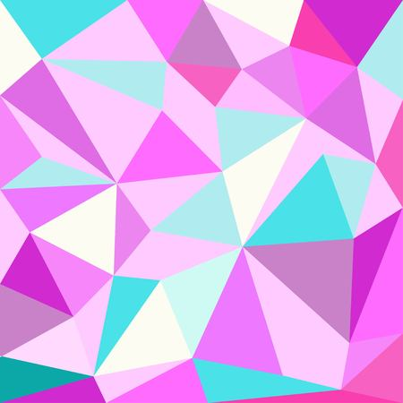 Unicorn Polygonal Background, Low poly style texture  イラスト・ベクター素材