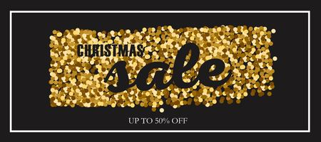 Christmas and New Year vector Sale banner, posters, header.