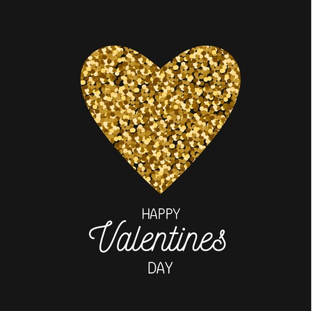 Happy Valentines day vector postcard, banner, poster, background concept