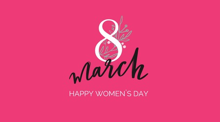 Happy International Women s Day holiday vector illustration. Spring concept for banners, web design, posters, invitations. 写真素材 - 125187633