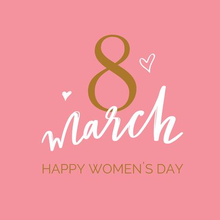 Happy International Women s Day holiday vector illustration. Spring concept for banners, web design, posters, invitations.