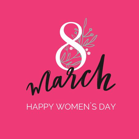 Happy International Women s Day holiday vector illustration. Spring concept for banners