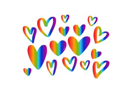 LGBT flag against homosexual discrimination. Vector hand drawn Illustration