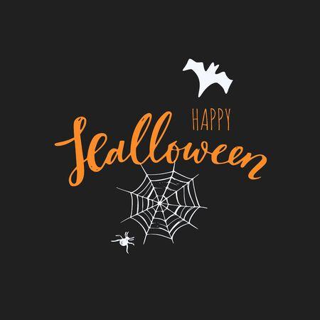 Vector Happy Halloween banner,emblem Ilustração