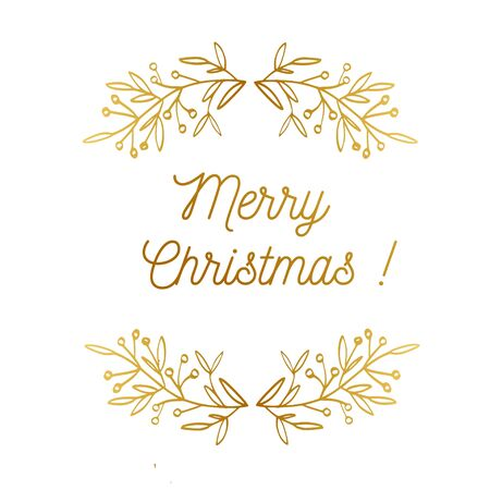 Merry christmas vector emblem, symbol, frame. Vintage styled greeting card