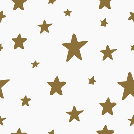 Seamless pattern, vector background with different stars. Bright and colorful backdrop for Christmas and New Year party, packaging Foto de archivo - 137333555