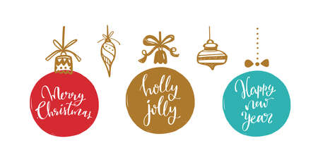 Big set of Christmas design doodle elements. Vector hand drawn . Isolated