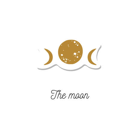 The moon vector vintage illustration. Cosmic , occult and witchcraft symbol Illustration