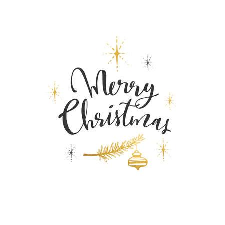 Merry Christmas everyone. Vector Modern Brushpen Calligraphy, Lettering design Illustration