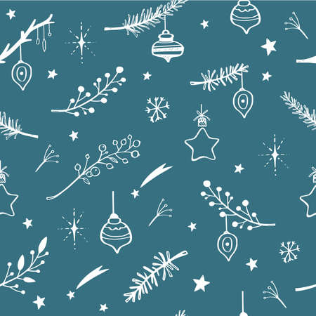 Winter holiday christmas festive background. Vector seamless pattern