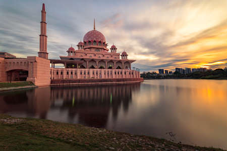 The Putra Mosque is the principal mosque of Putrajaya, Malaysia. Construction of the mosque began in 1997 and was completed two years later. It is located next to the Perdana Putra, which houses the M