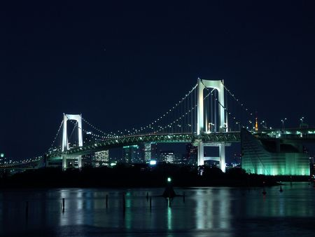 nightscene: Rainbow Bridge in Tokyo