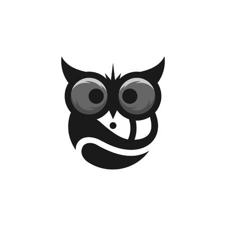 owl logo template Stock Illustratie