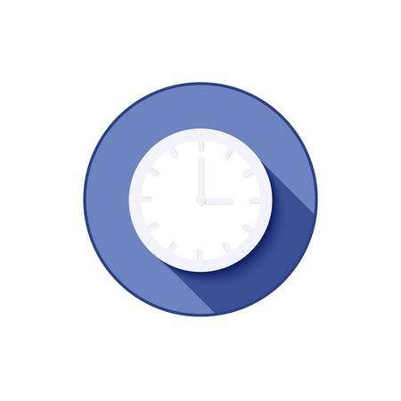 minimal clock icon with shadow