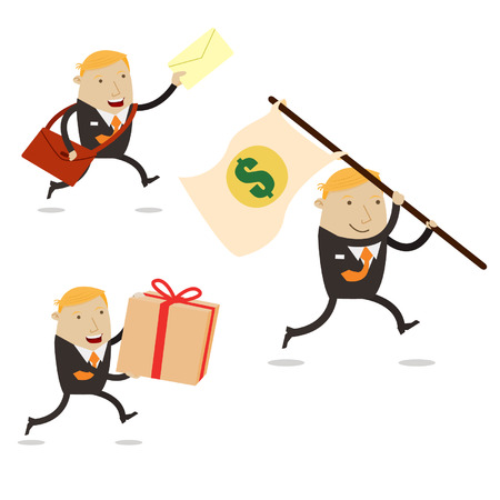 Delivery man business Vector