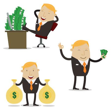 rentable: Hombre de negocios rentables