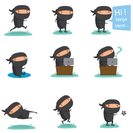 cartoon mascot: Ninja Mascot Set 2