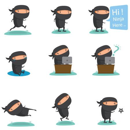 Ninja Mascot Set 2