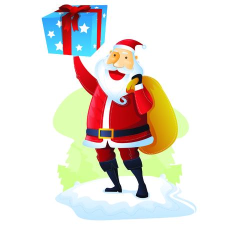 merry chrismas: Santa with Gift set 2