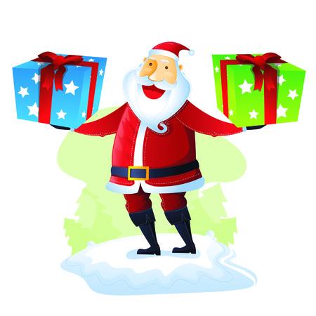 merry chrismas: Santa with Gift set 1