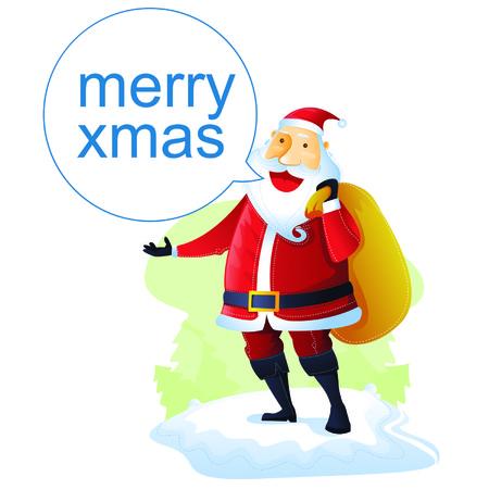 Santa says Hi Vector
