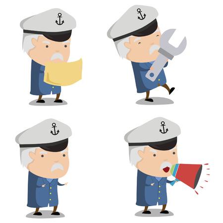 Kapitein Ship Mascot 3 Stockfoto - 40949538