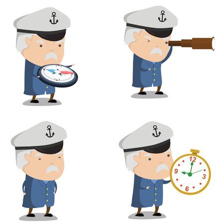 Captain Ship Mascot 2